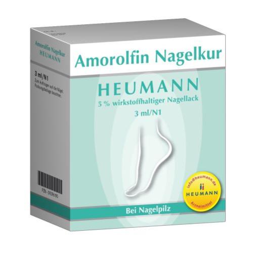 Amorolfin Nagelkur Heumann 5% wirkstoffh.Nagellack, 3 ML, Heumann Pharma GmbH & Co. Generica KG