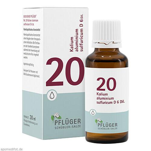 Biochemie Pflüger NR. 20 Kalium alu.sul. D 6, 30 ML, A.Pflüger GmbH & Co. KG