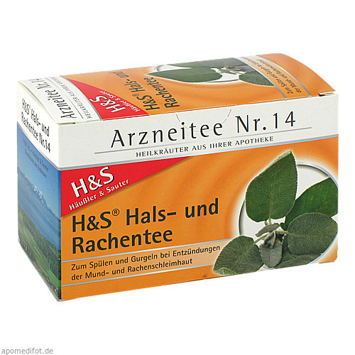 H&S Hals-und Rachentee, 20X2.5 G, H&S Tee - Gesellschaft mbH & Co.