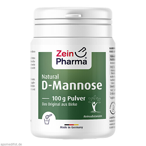 Natural D-Mannose Powder, 100 G, Zein Pharma - Germany GmbH
