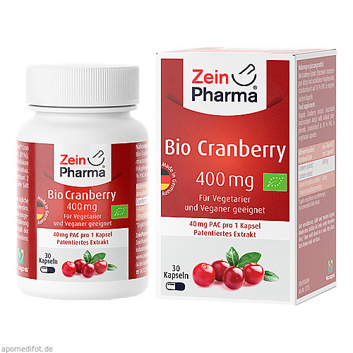 Bio Cranberry Vegi Kapseln 400 mg, 30 ST, Zein Pharma - Germany GmbH