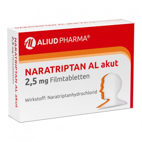 Naratriptan AL akut 2.5mg Filmtabletten, 2 ST, Aliud Pharma GmbH
