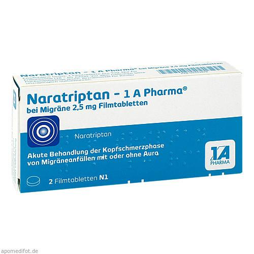 Naratriptan - 1 A Pharma bei Migräne 2.5mg Filmtab, 2 ST, 1 A Pharma GmbH