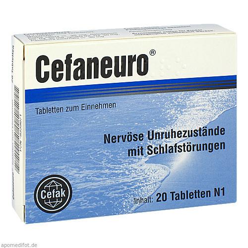 CEFANEURO Tabletten, 20 ST, Cefak KG