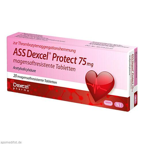 ASS Dexcel Protect 75mg, 20 ST, Dexcel Pharma GmbH