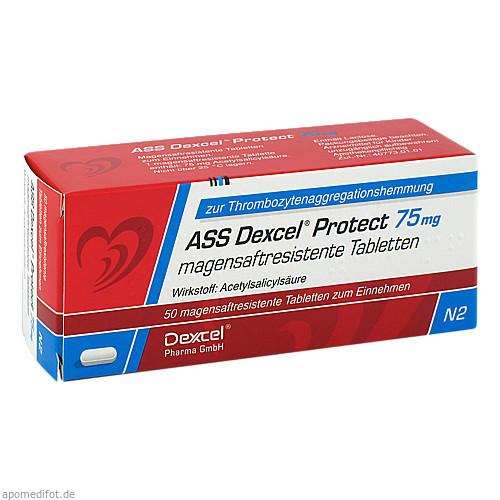 ASS Dexcel Protect 75mg, 50 ST, Dexcel Pharma GmbH