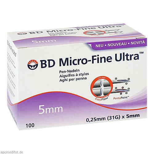 BD Micro-Fine Ultra Pen-Nadel 0.25x5mm, 100 ST, Becton Dickinson GmbH