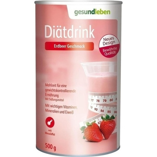 GESUND LEBEN Diätdrink Erdbeer Pulver, 500 G, GEHE Pharma Handel GmbH