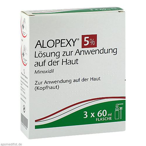 ALOPEXY 5% Lösung zur Anwendung auf der Haut, 3X60 ML, PIERRE FABRE DERMO KOSMETIK GmbH GB - DUCRAY A-DERMA PFD