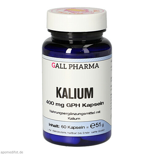 Kalium 400mg GPH Kapseln, 60 ST, Hecht-Pharma GmbH