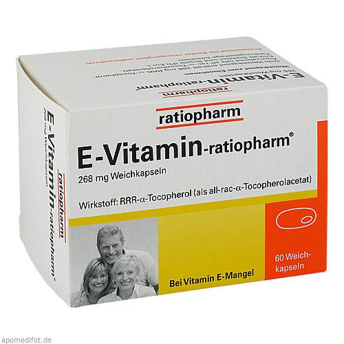 E-Vitamin-ratiopharm, 60 ST, ratiopharm GmbH
