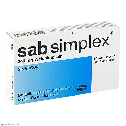 Sab Simplex 240mg Weichkapseln, 60 ST, Pfizer Pharma PFE GmbH