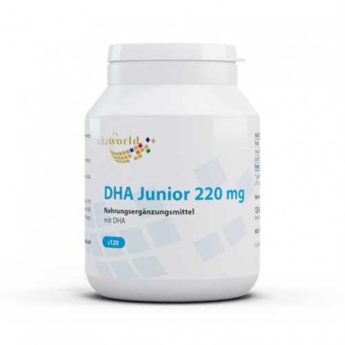 DHA Junior 220mg, 120 ST, Vita World GmbH