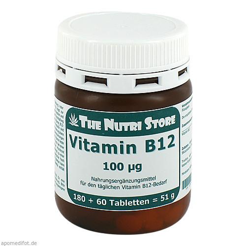 Vitamin B12 100ug, 180 ST, Hirundo Products