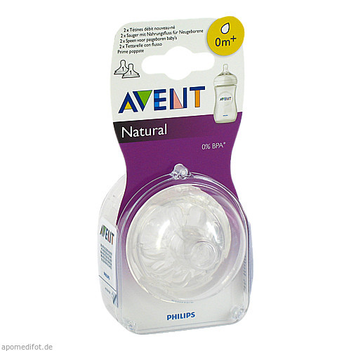 Avent Naturnah-Sauger 0m+ Monate, 2 ST, Philips GmbH