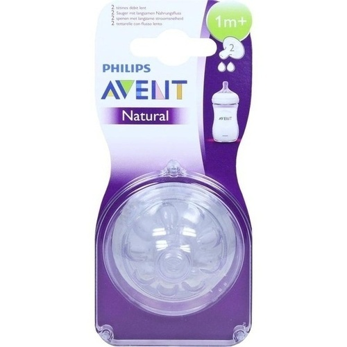 Avent Naturnah-Sauger 1m+ Monate, 2 ST, Philips GmbH