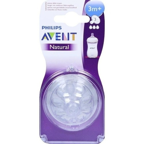Avent Naturnah-Sauger 3m+ Monate, 2 ST, Philips GmbH