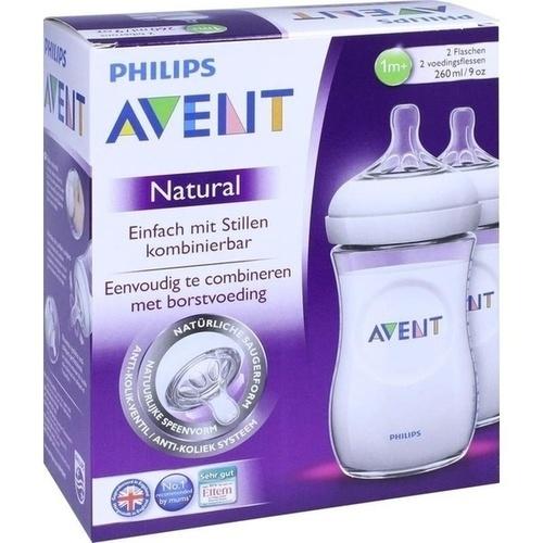 Avent 260ml PP Flasche nach dem Vorbild der Natur, 2 ST, Philips GmbH