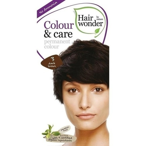 Hairwonder Colour & care Dark Brown 3, 100 ML, Frenchtop Natural Care Products B.V