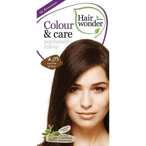 Hairwonder Colour & care Mocha Brown 4.03, 100 ML, Frenchtop Natural Care Products B.V