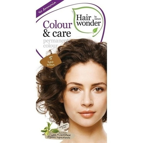 Hairwonder Colour & care Light Brown 5, 100 ML, Frenchtop Natural Care Products B.V