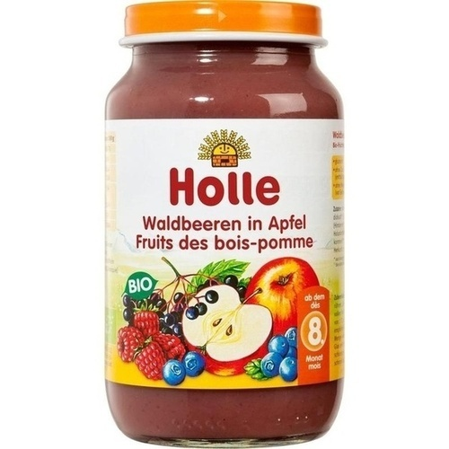 Holle Waldbeeren in Apfel, 220 G, Holle baby food AG