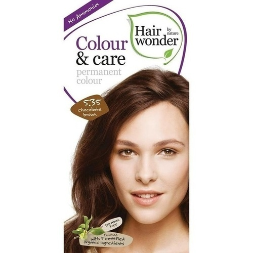 Hairwonder Colour & care Chocolate Brown 5.35, 100 ML, Frenchtop Natural Care Products B.V