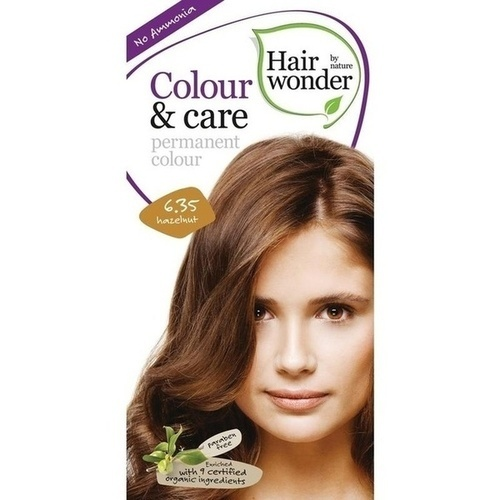 Hairwonder Colour & care Hazelnut 6.35, 100 ML, Frenchtop Natural Care Products B.V