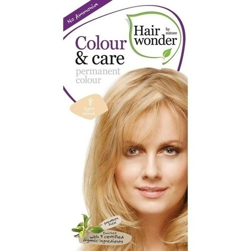 Hairwonder Colour & care Light Blond 8, 100 ML, Frenchtop Natural Care Products B.V