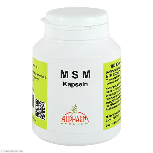 MSM (500mg), 100 ST, Allpharm Vertriebs GmbH