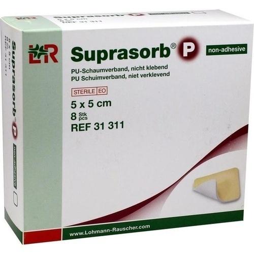 Suprasorb P Pu-Schaumverband nicht klebend 5x5cm, 8 ST, Lohmann & Rauscher GmbH & Co. KG