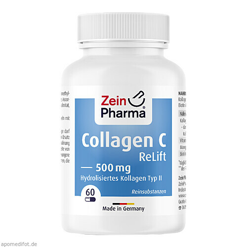 Collagen C ReLift Kapseln 500mg, 60 ST, Zein Pharma - Germany GmbH