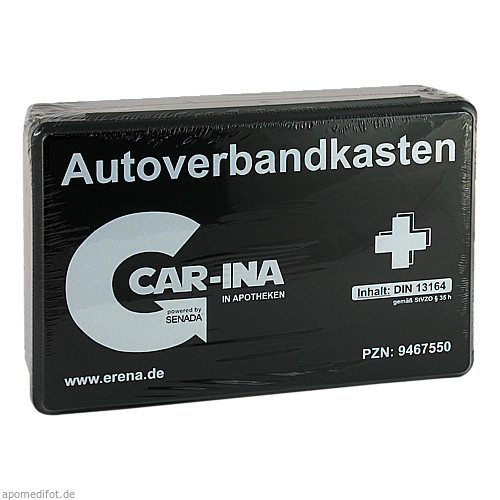 Senada CAR-INA Autoverbandkasten schwarz, 1 ST, Erena Verbandstoffe GmbH & Co. KG