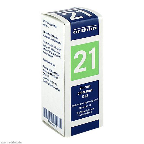 Biochemie Globuli Nr.21 Zincum chloratum D12, 15 G, Orthim GmbH & Co. KG