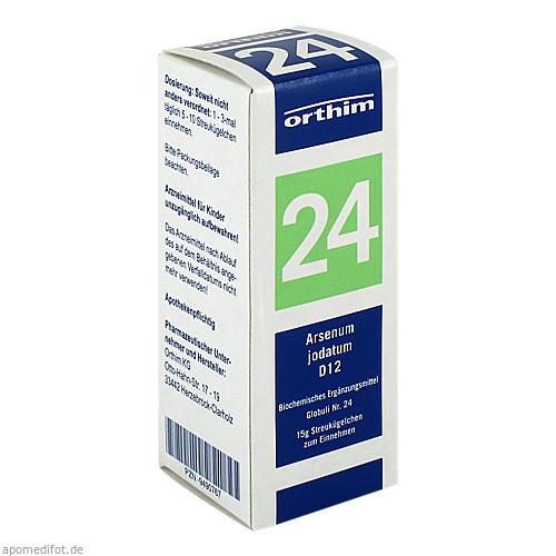 Biochemie Globuli Nr.24 Arsenicum jodatum D12, 15 G, Orthim GmbH & Co. KG
