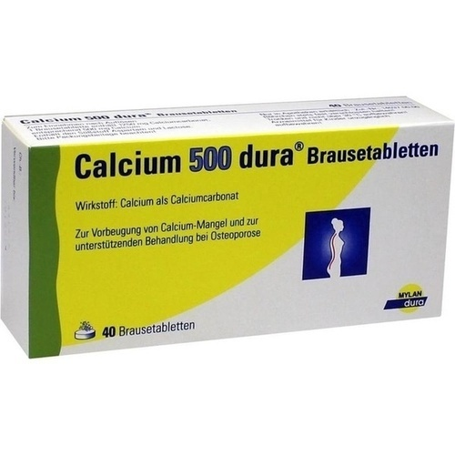 Calcium 500 dura Brausetabletten, 40 ST, Mylan dura GmbH