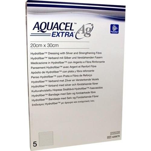 AQUACEL Ag Extra 20X30CM, 5 ST, Convatec (Germany) GmbH