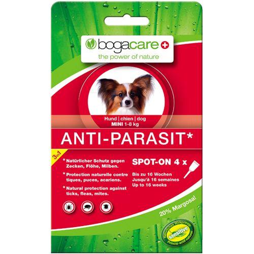 BOGACARE ANTI-PARASIT Spot-on Hund mini, 4X0.75 ML, Werner Schmidt Pharma GmbH