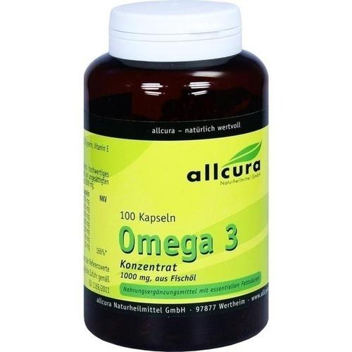 Omega 3 Konzentrat 1000mg aus Fischöl, 100 ST, Allcura Naturheilmittel GmbH