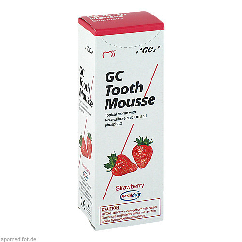 GC Tooth Mousse Erdbeere, 40 G, Dent-O-Care Dentalvertriebs GmbH