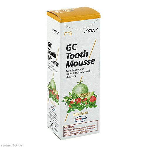 GC Tooth Mousse Tutti-Frutti, 40 G, Dent-O-Care Dentalvertriebs GmbH