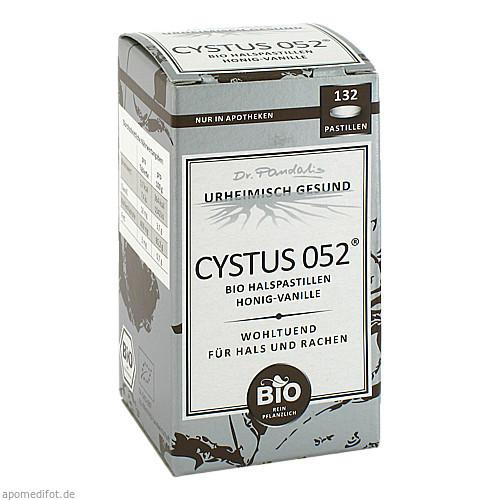 Cystus 052 Bio Halspastillen Honig-Vanille, 132 ST, Dr. Pandalis