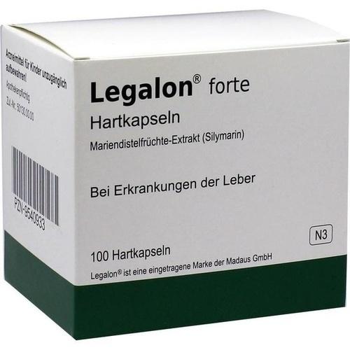 Legalon forte Hartkapseln, 100 ST, Aca Müller/Adag Pharma AG