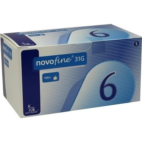 Novofine 6 Kanülen 0.25x6mm 31G, 100 ST, Pharma Gerke Arzneimittelvertriebs GmbH