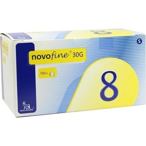 Novofine 8 Kanülen 0.30x8mm 30G, 100 ST, Pharma Gerke Arzneimittelvertriebs GmbH