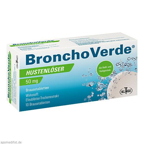 Bronchoverde Hustenlöser 50mg Brausetabletten, 10 ST, Klinge Pharma GmbH