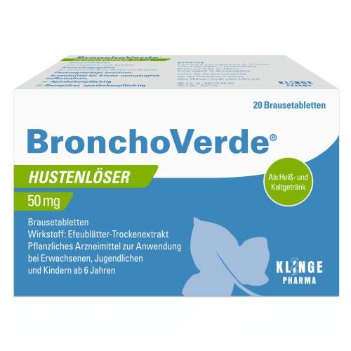 Bronchoverde Hustenlöser 50mg Brausetabletten, 20 ST, Klinge Pharma GmbH