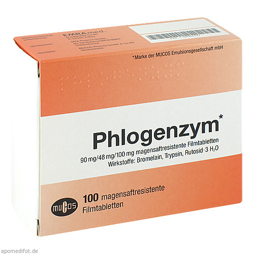 Phlogenzym magensaftresistente Filmtabletten, 100 ST, Emra-Med Arzneimittel GmbH