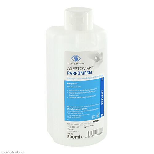 Aseptoman Parfümfrei Händedesinfektion, 500 ML, Dr. Schumacher GmbH
