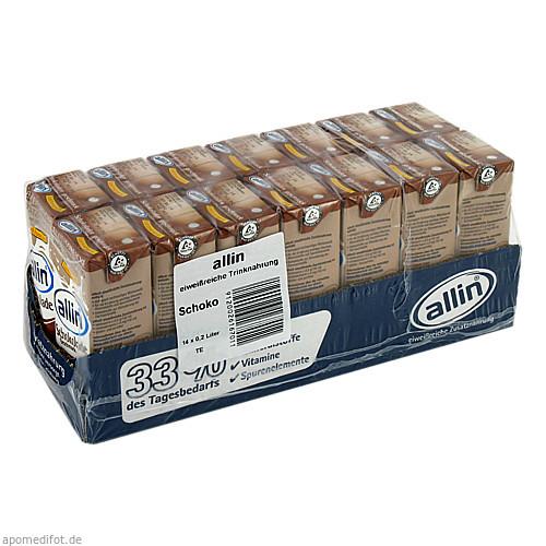 ALLIN-Zusatznahrung eiweißr.lak.arm Milch Schoko, 14X200 ML, Allin Diätetik GmbH